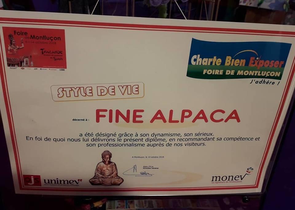 Lauréat Style de Vie pour Fine Alpaca