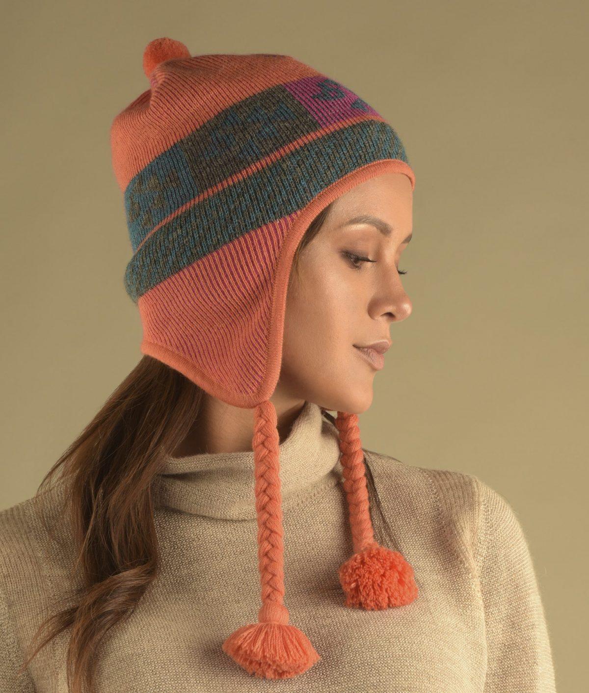 Bonnet réversible Chullo Fine Alpaca bébé alpaga